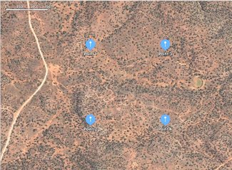 Satellite GPS corners map