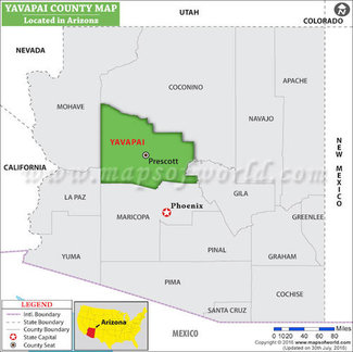 Yavapai County location map