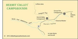 Nearby free campground map