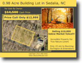 0.98 Acre Lot in Gibsonville, NC