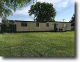 Kansas Farm Land 19 Square Feet 1488 sq ft mfg home - 19,560 sq ft corner