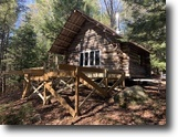 New York Hunting Land 31 Acres Log Cabin Day NY 257 Glasshouse Creek Rd