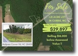1.21 Acre Lot in Carrie, NC