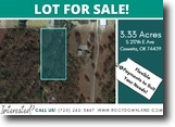 3.33 Acre Lot in Coweta, OK for $42,995!