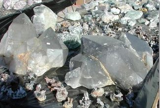Crystals on our claim