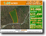 South Carolina Land 2 Acres 1.95ac BEST DEAL in Zirconia, NC Lot Sale