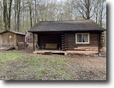New York Hunting Land 2 Acres Log Cabin Pond in Allen NY Town Line Road