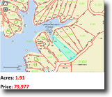 1.91 Acres waterfront Lot in Smith Lake