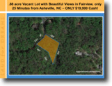 North Carolina Land 1 Acres .88 ac View Lot Save 33% at Only $19,900