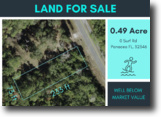 .49 Acre Lot in a Beach Community