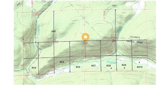 Claim topography location map