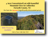 4 acre Unrestricted lot in Cullowhee, NC